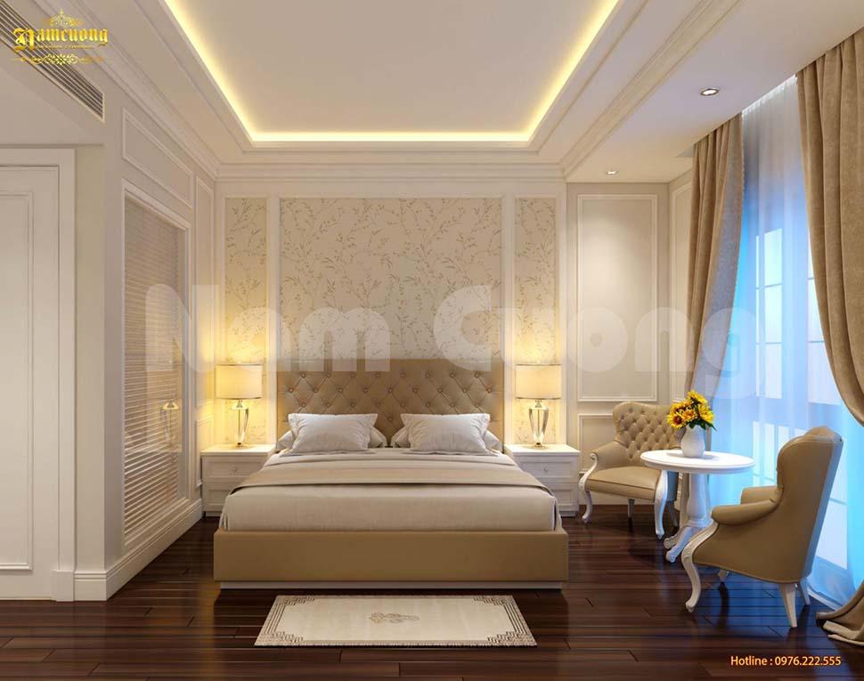 Phong cách tân cổ điển tràn ngập không gian phòng ngủ khách sạn