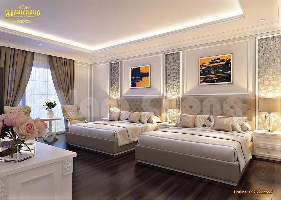 Phòng ngủ khách sạn mini 3 sao nổi bật