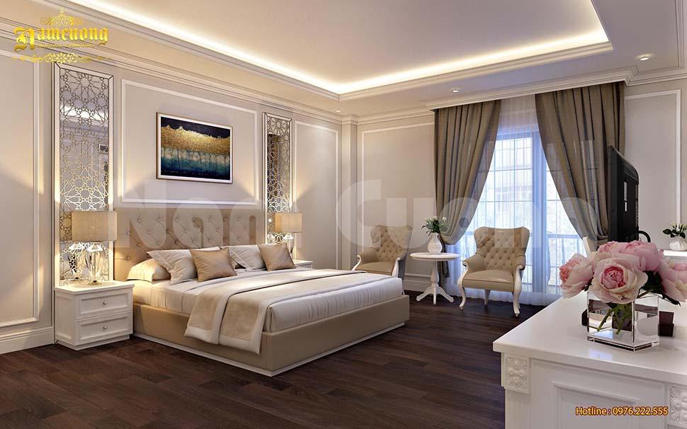 Phối cảnh nội thất phòng ngủ khách sạn