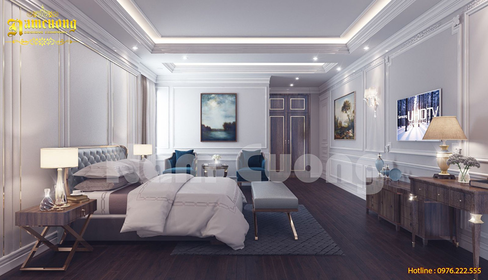 Không gian nội thất phòng ngủ khách sạn 5 sao đậm chất cổ điển