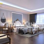 Phối cảnh phòng ngủ ở khách sạn 5 sao