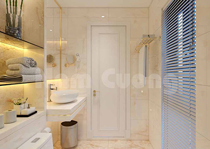 mẫu thiết kế phòng tắm khách sạn