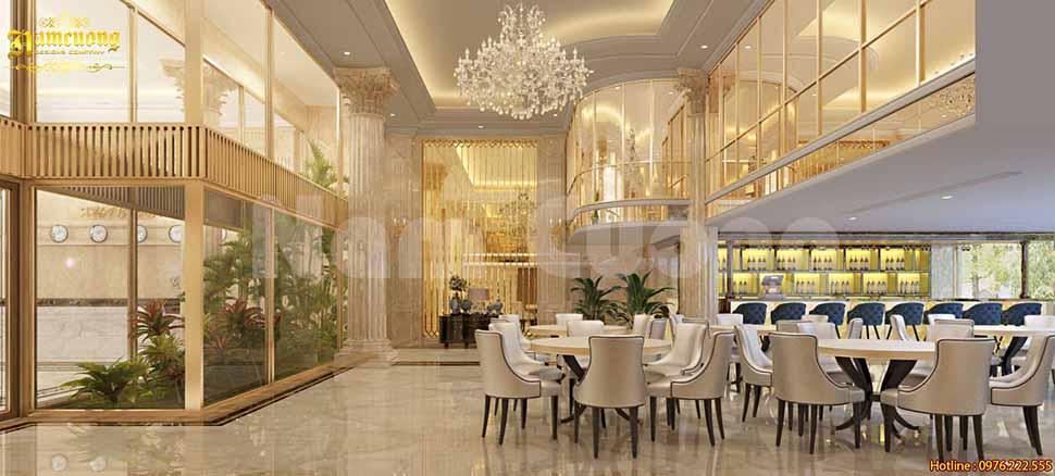 thiết kế sảnh khách sạn 5 sao tân cổ điển
