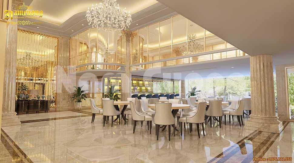 sảnh khách sạn 5 sao tân cổ điển