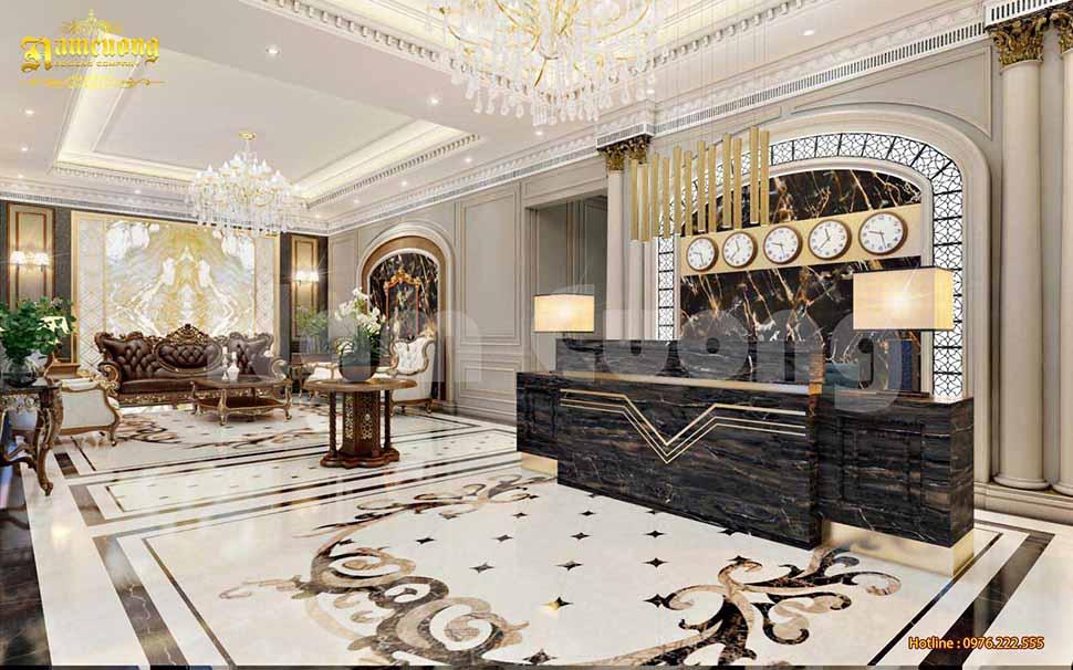 sảnh check-in khách sạn