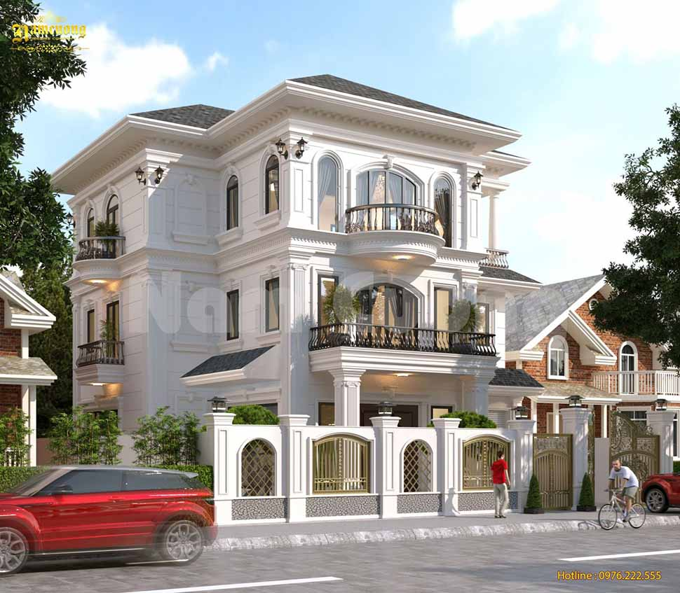 Biệt thự 3 tầng mái Mansard