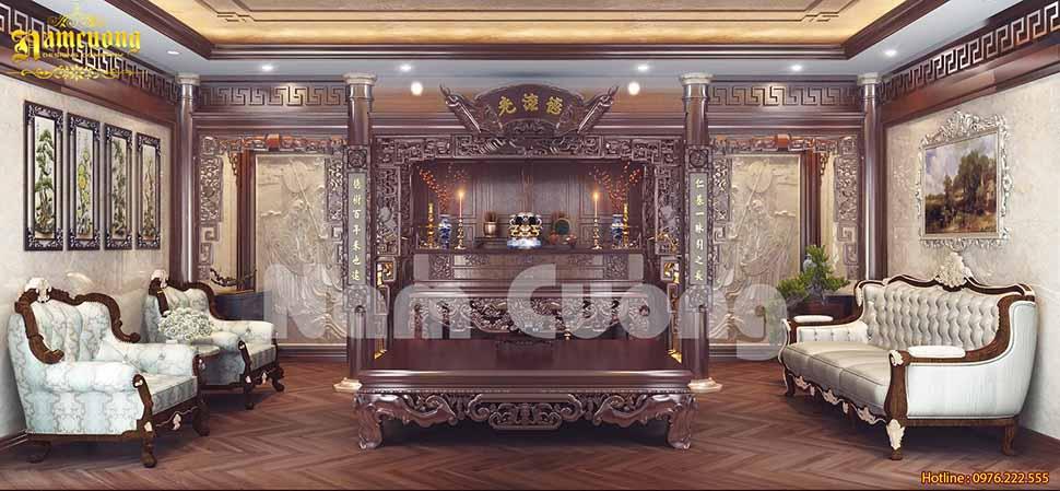 Nội thất phòng bếp trong thiết kế nhà 180m2