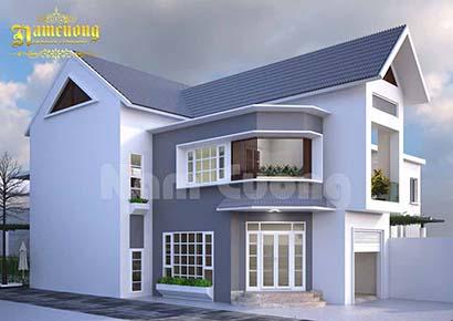 thiết kế nhà 2 tầng 120m2