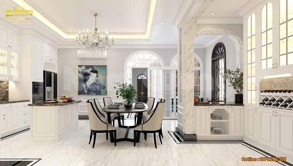 Nội thất phòng bếp đẹp trong ngôi nhà rộng 120m2