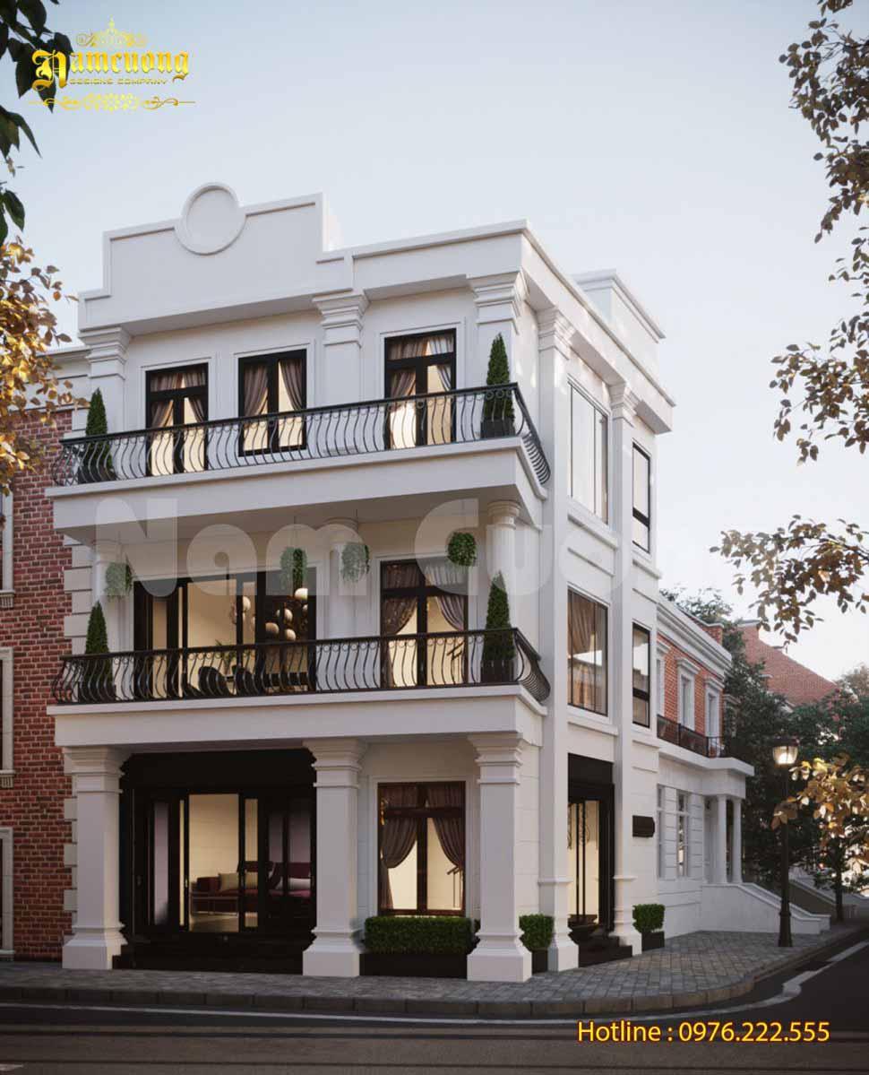 Mẫu thiết kế nhà biệt thự 120m2 tân cổ điển 3 tầng