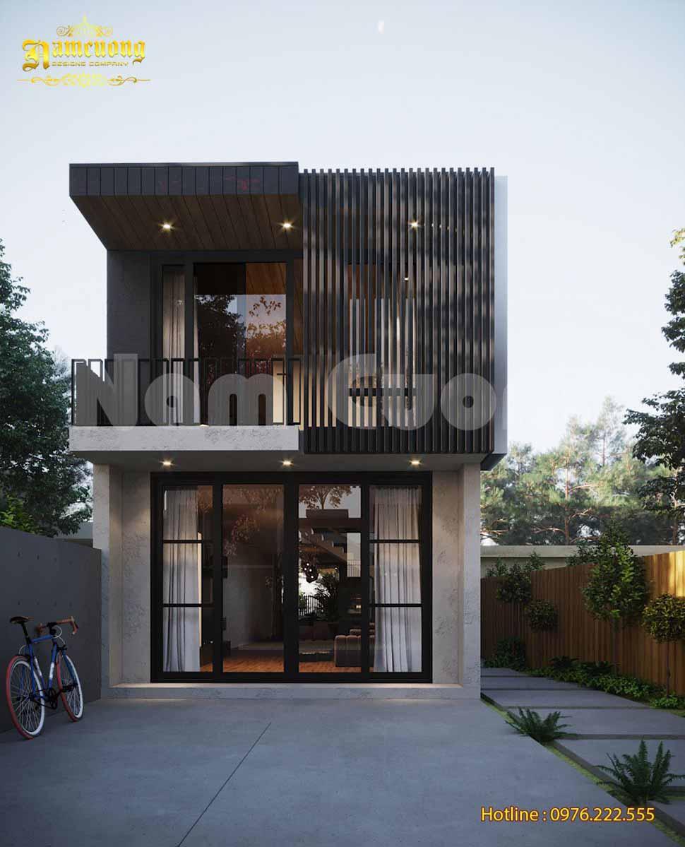 mẫu thiết kế nhà mặt tiền 8m sâu 15m