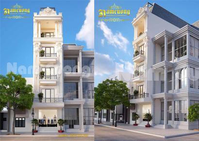 mẫu nhà phố 5 tầng đẹp