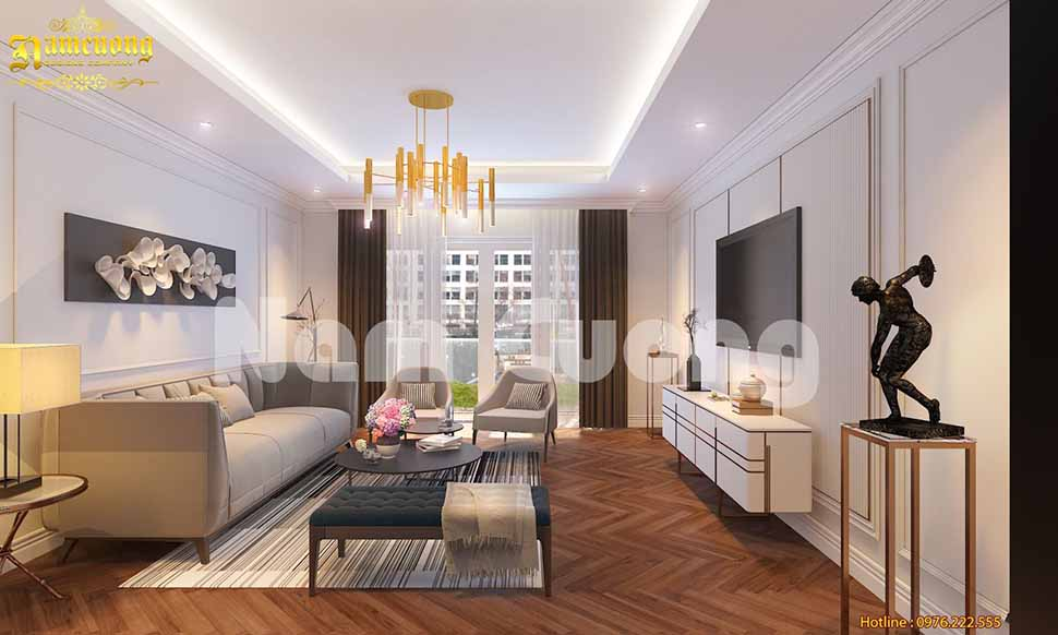 Thiết kế phòng khách 14m2 đẹp hiện đại HOT nhất 2020