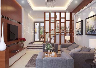 Thiết kế phòng khách 15m2 hiện đại hợp phong thủy