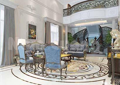 Thiết kế phòng khách 23m2 đẹp hợp phong thủy