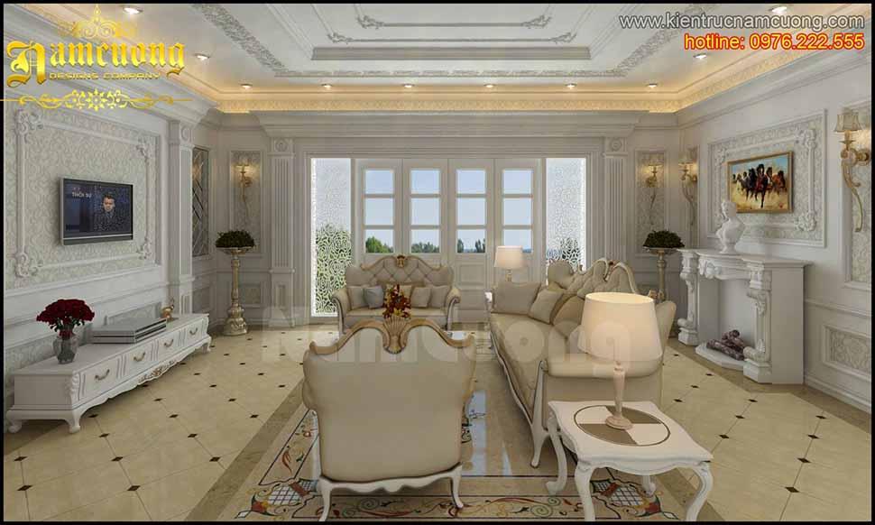 Thiết kế phòng khách 25m2 tân cổ điển đẹp nhất năm 2020