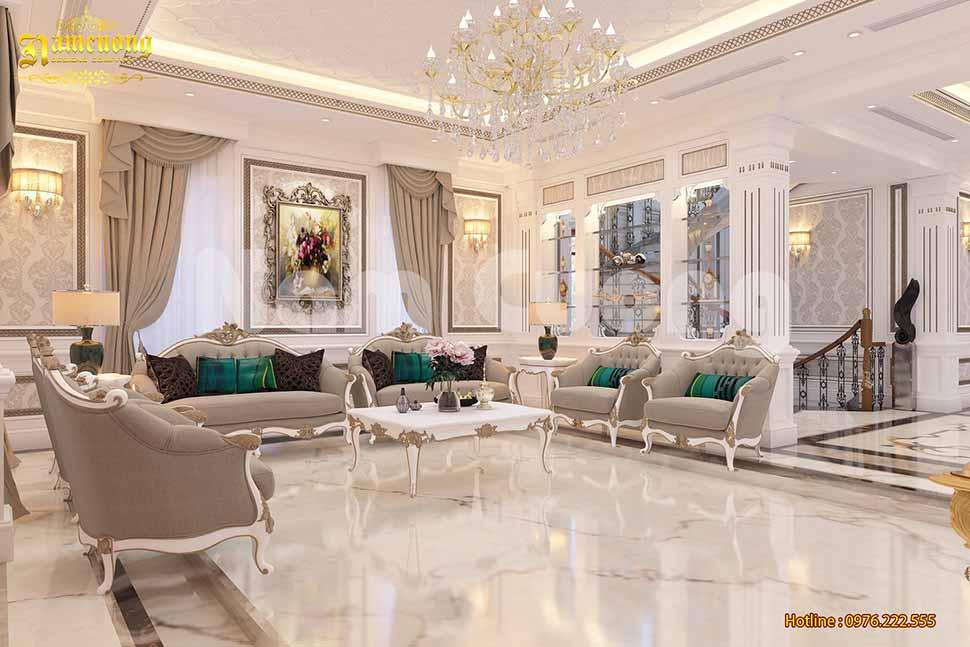 mẫu phòng khách tân cổ điển đẹp