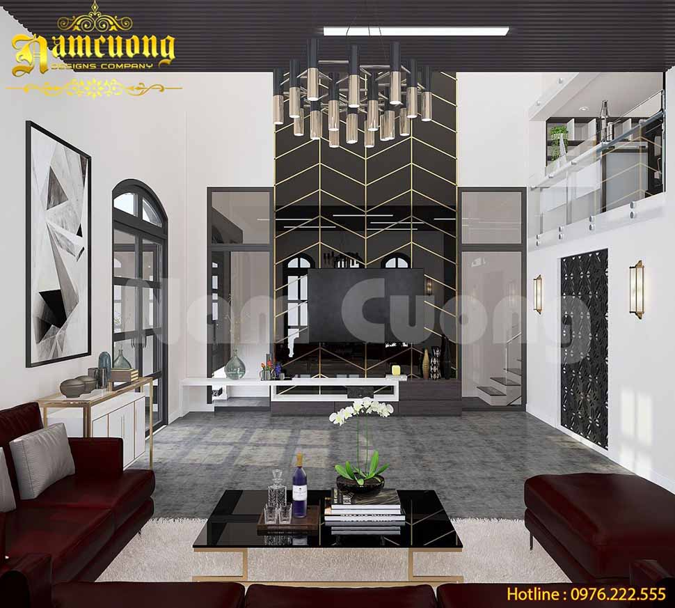 mẫu thiết kế phòng khách hiện đại sang trọng