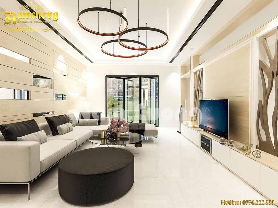 Thiết kế phòng khách hợp phong thủy - Kiến trúc Nam Cường