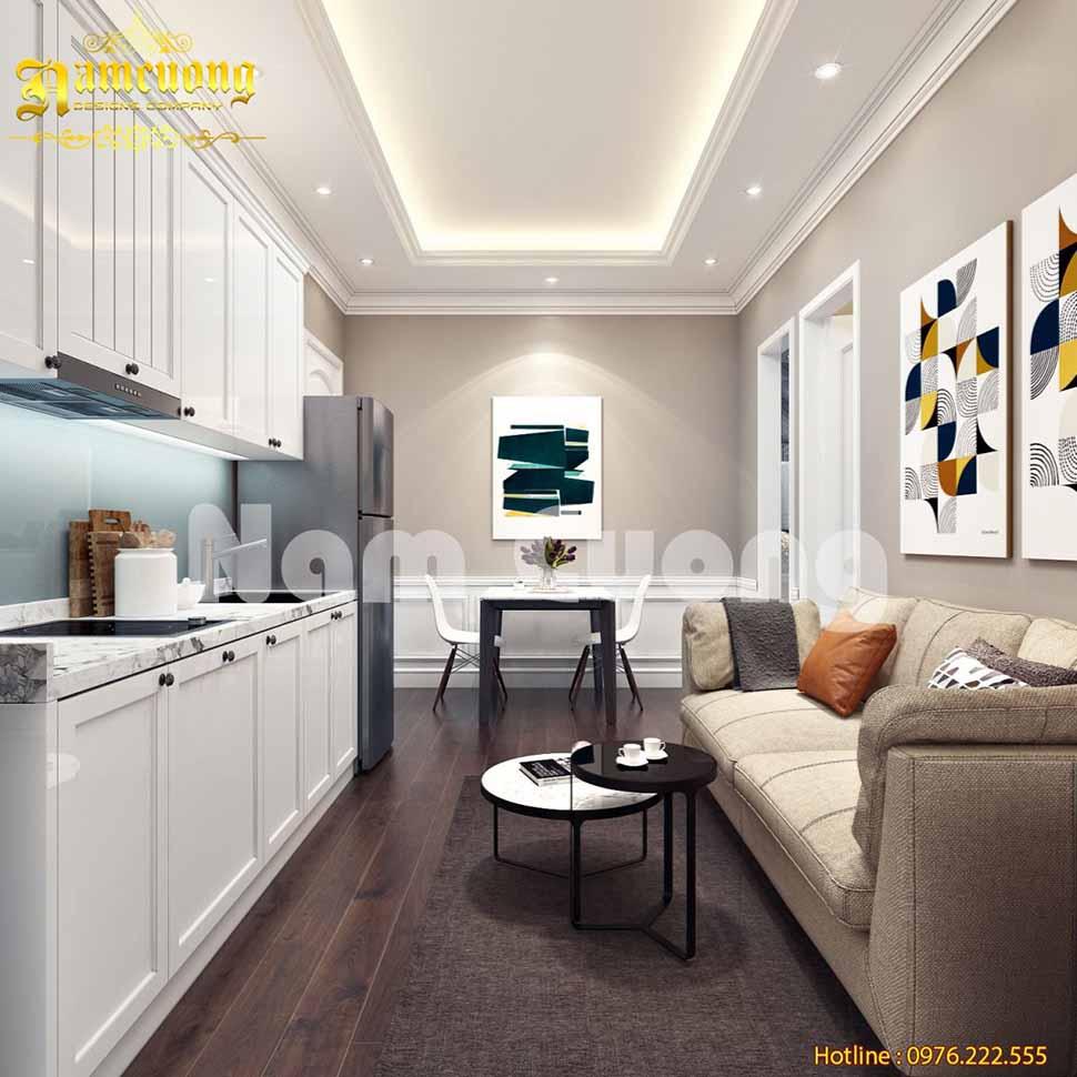 Các mẫu thiết kế phòng khách liền phòng ăn