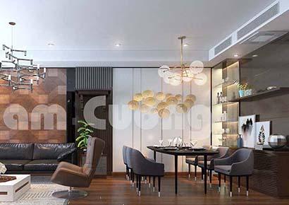 Các mẫu thiết kế phòng khách liên thông nhà bếp