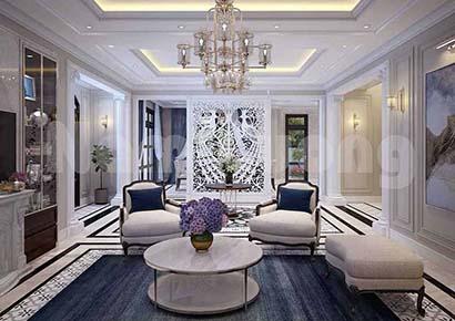 Bật mí cách thiết kế phòng khách nhà 2 tầng trở lên sang trọng