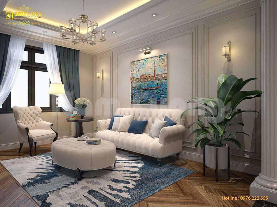 mẫu phòng khách tân cổ điển