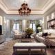 Mẫu thiết kế phòng khách tầng 1 tân cổ điển