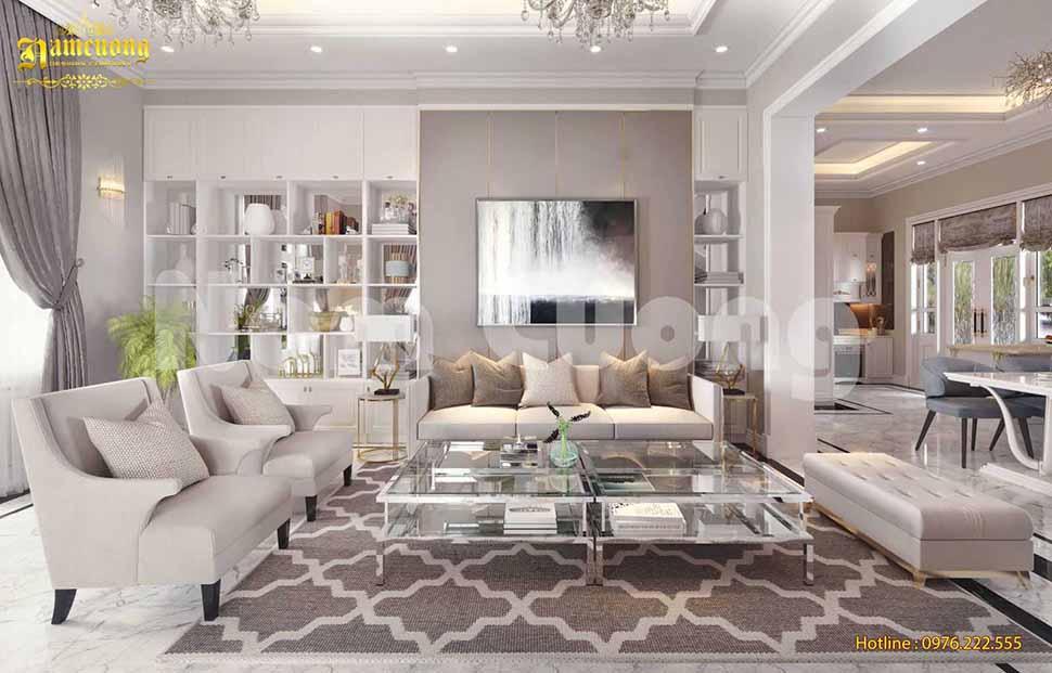 10 Mẫu thiết kế phòng khách theo phong cách Châu Âu vạn người mê