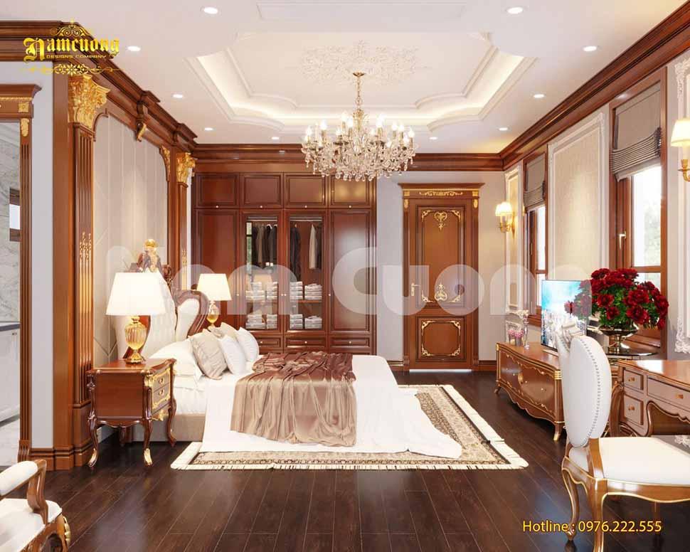 Thiết kế nội thất phòng ngủ 2 vợ chồng kiểu Pháp