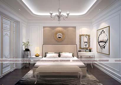 Thiết kế phòng ngủ Châu Âu tại Hải Phòng