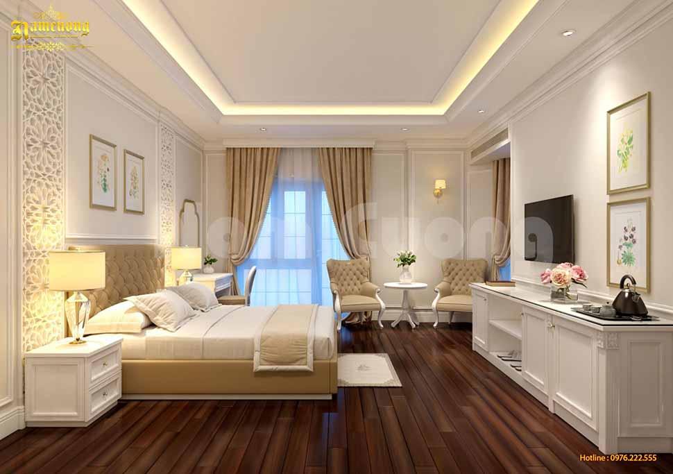 thiết kế buồng ngủ khách sạn