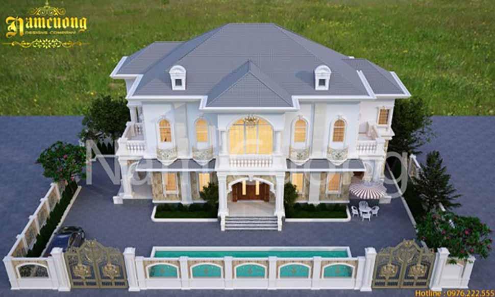 xây biệt thự mái thái