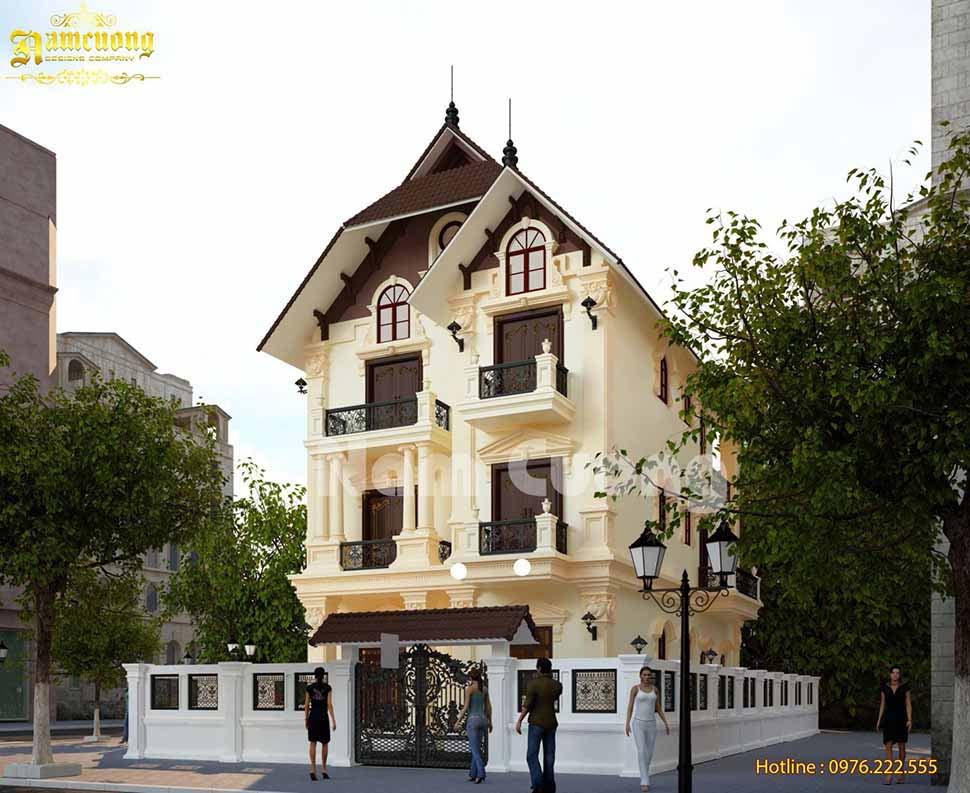 xây biệt thự 3 tầng trọn gói tại Kom tum