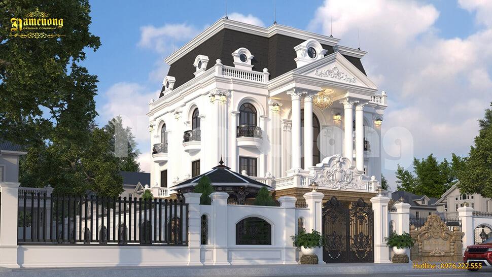 biệt thự kiến trúc Pháp