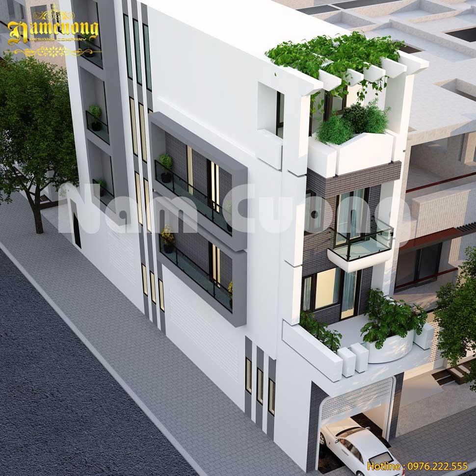 nhà phố 2 mặt tiền hiện đại