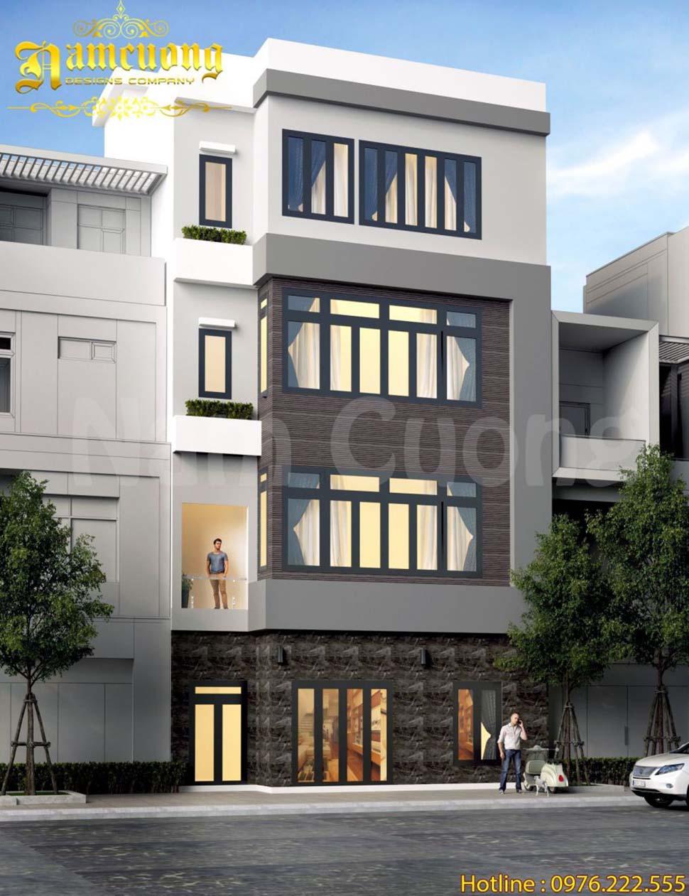 nhà phố hiện đại 8x10m