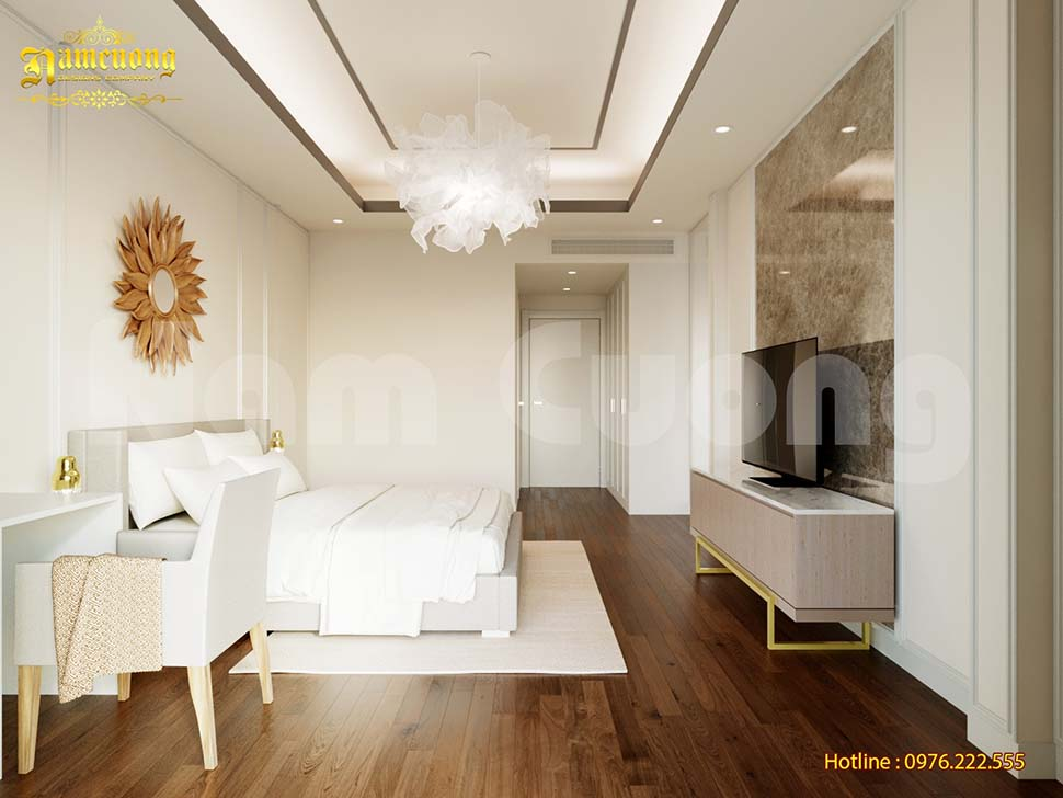 Phòng ngủ nhà phố 5x15m